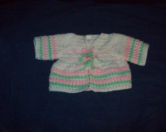 Baby Sweater Jacket Size 6 Months