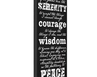 typography canvas print 10x20 serenity prayer canvas print canvas print
