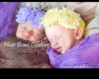 Pick Color  Infant Flower Headband, Newborn Rosette Headband, Hair Bow Headband, Newborn Headband, Baby Headbands, Baby Bow, Birthday Bows,