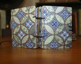 geometric mini journal, back to school, notebook, sketchbook, art book, miniature, handmade diary, one of a kind teen gift