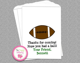 Football Party Favor Bag , Football Candy Bags, Goody Bags, Party Favor Bag, Cookie Bags