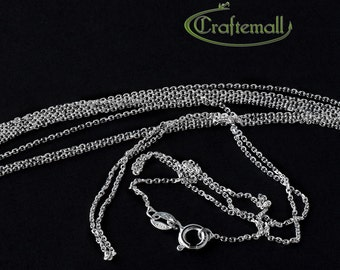 """18"""" Sterling silver chain - rolo 0.7mm VCSR18X7"""