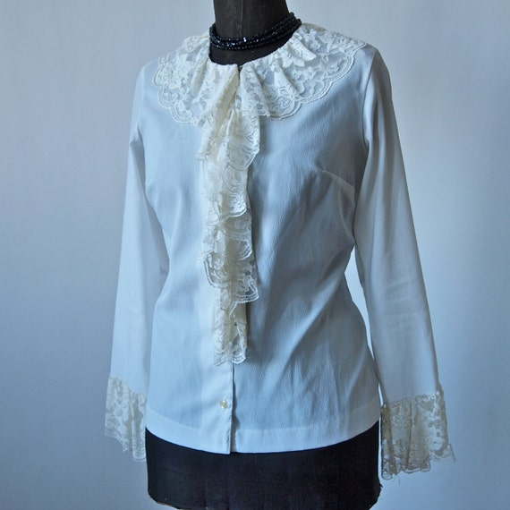 Lace Ruffle Blouse Ruffle Blouse With Lace Cuffs