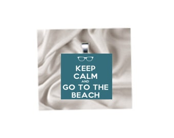 Pendant Necklace Keep Calm and go to the Beach