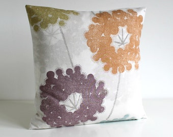 Designer Pillow Cover, Cushion Cover, 16 Inch - Dandelions Twilight