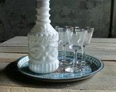Vintage Milk Glass Decanter