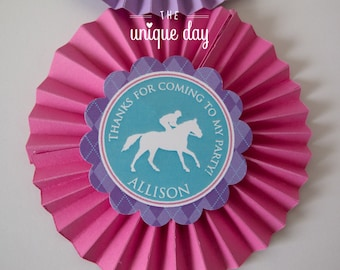Kentucky Derby Birthday Party for girl - Thank you tags  - horse racing - jockey themed - Printable - DIY Party Favor// DERG- 05