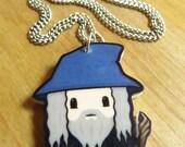 Grey Wizard - Charm Necklace