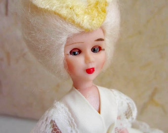 French Marquise costume doll, folk doll, vintage, France