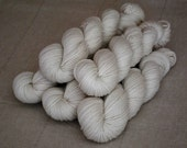 Undyed Organic Merino Worsted Weight Yarn 210 yards in 'Bare'