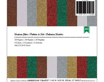6x6 Paper Pad from American Crafts - Christmas Glitter