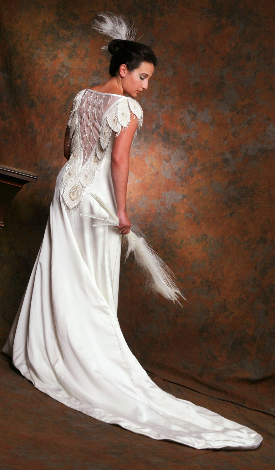 Sale huge discount buy white peacock gown designer backless for Backless wedding dresses for sale