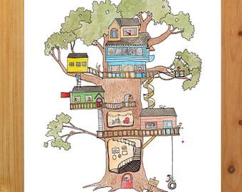 Treehouse print 8.5 x 11
