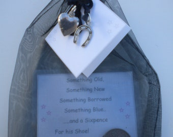 Lucky Sixpence MALE HIS SHOE Good Luck Charm Gifts Something New Civil Partnership