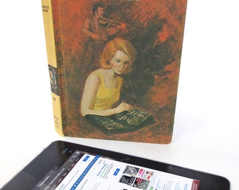 Vintage Nancy Drew Tablet Case in Shades of Red [*Kindle Fire, *Kindle Paperwhite, *Galaxy Tab, * Nexus 7]