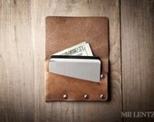 Leather Card Wallet, simple card wallet, men's wallet, thin card wallet, simple leather flap wallet  021