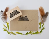 Mountain Range Return Address Stamp, 2x3