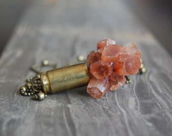Aragonite Crystal Bullet Necklace - Gifted at GBK's MTV Movie Award Lounge
