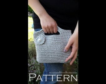 Chunky Crochet Tote Pattern : Chunky Basket Handbag Tote Easy Crochet PATTERN Tutorial