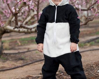 Children Christmas Panda bear/ Christmas onesie/ kids Christmas gift/ toddler Christmas outfit/ Panda bear Costume