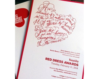I Heart Calligraphy by Laura Lavender.  Heart Calligraphy invitation. Custom Hand Lettered Heart invitation.