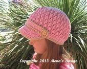 Crochet Pattern 093 - Crochet Hat Pattern - Hat Crochet Pattern for Two-Button Visor Hat - Boys Girls Children Teens Women Men - Winter Hat