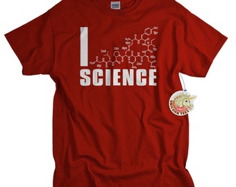 Science Shirt Science Gift for men and women I love science geek tshirt funny geekery gift for science geek