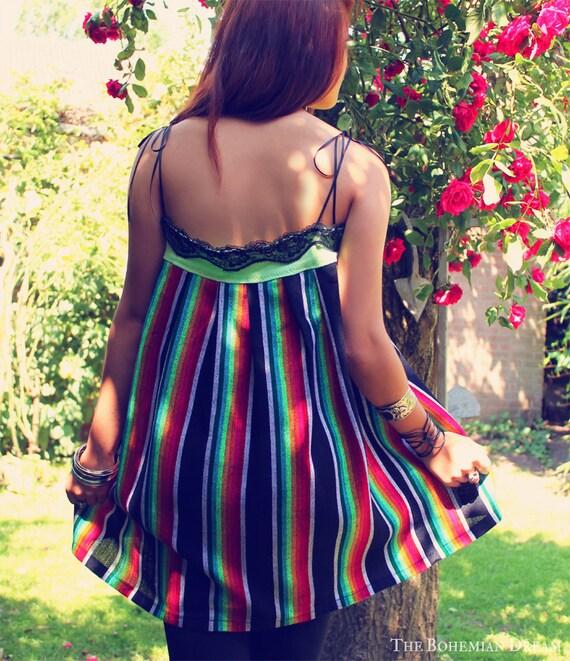 bohemian top mexican tunic tube shirt strapless swing boho