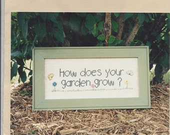 """Clearance - """"How Does Your Garden Grow""""  Counted Cross Stitch Chart by Angel Stitchin"""