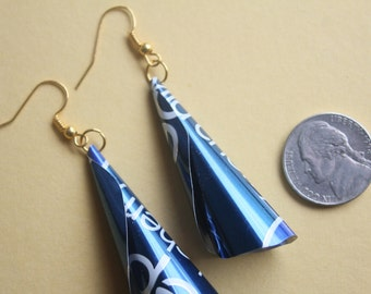 SALE: Upcycled Pepsi Soda Can Earrings