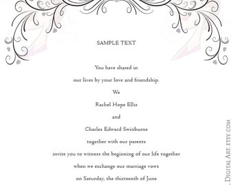 Wedding Swirl Clipart COMMERCIAL USE Retro Frames Flourish Diy Elegant Invitation Graphics VECTOR Files Instant Download 10274