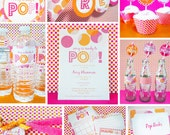 INSTANT DOWNLOAD Ready to Pop Baby Shower Girl, Boy, Neutral, Party Package, You Edit Yourself
