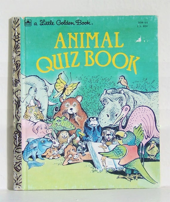 Classic Book Covers Quiz : Vintage animal quiz book little