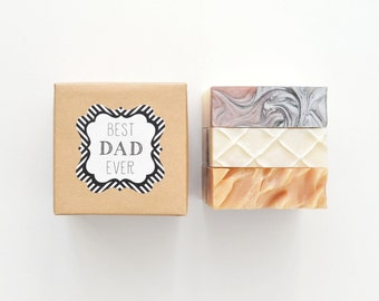 Best Dad Ever Gift Set - 3 Soaps of your choice