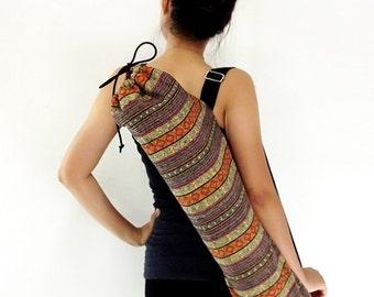 Handmade Yoga Mat Bag Yoga Bag Sports Bags Tote Yoga Sling bag Pilates Bag Pilates Mat Bag Woven Yoga Bag Women bag Woven Cotton bag (WF6)
