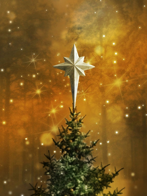 Star tree topper christmas of bethlehem