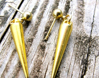 Marik Ishtar Inspired Gold Spike Earrings