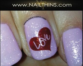 Signature Hearts Nail Decals, Love Nail Designs By NAILTHINS