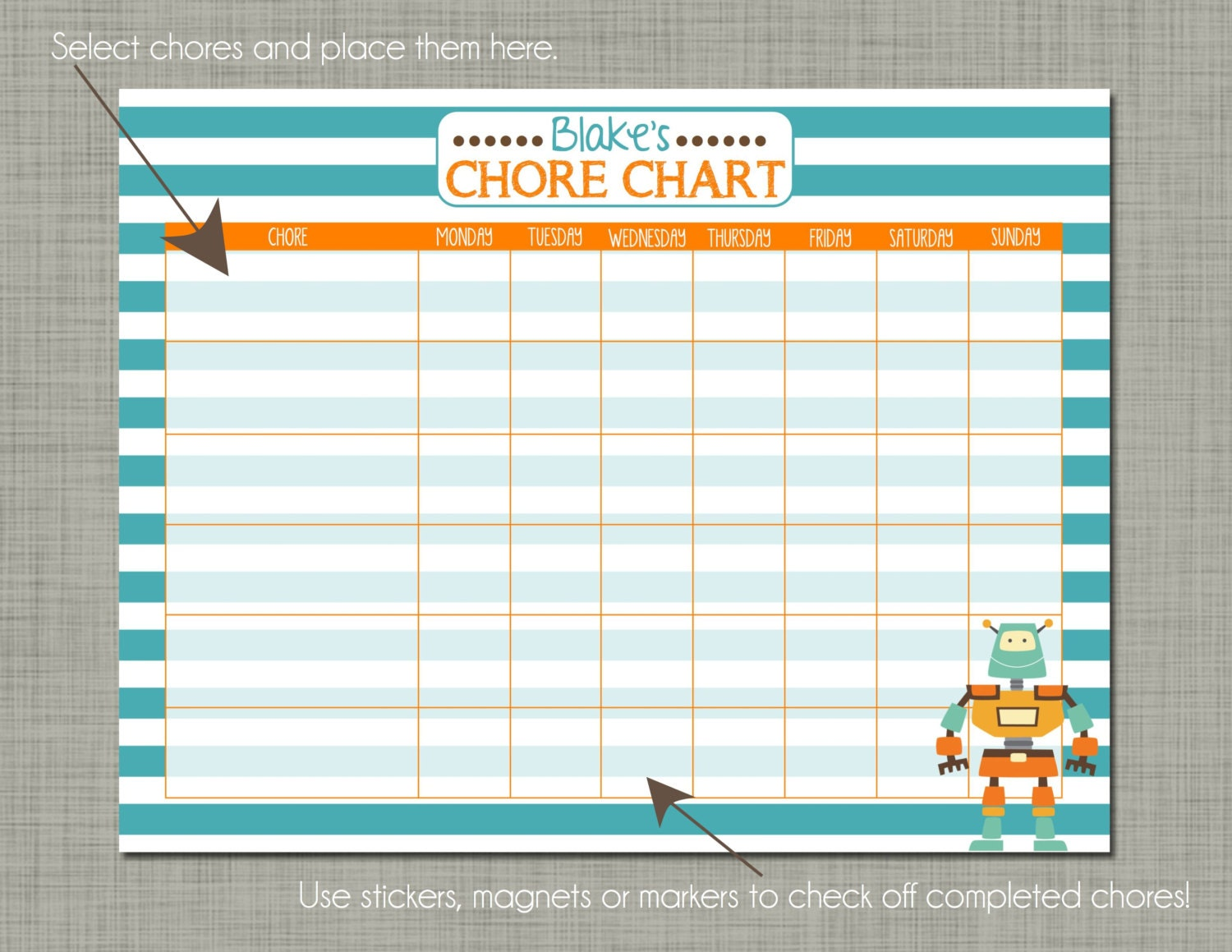daily routine chart template