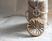 Large Bamboo Pendant **Reserved Listing**