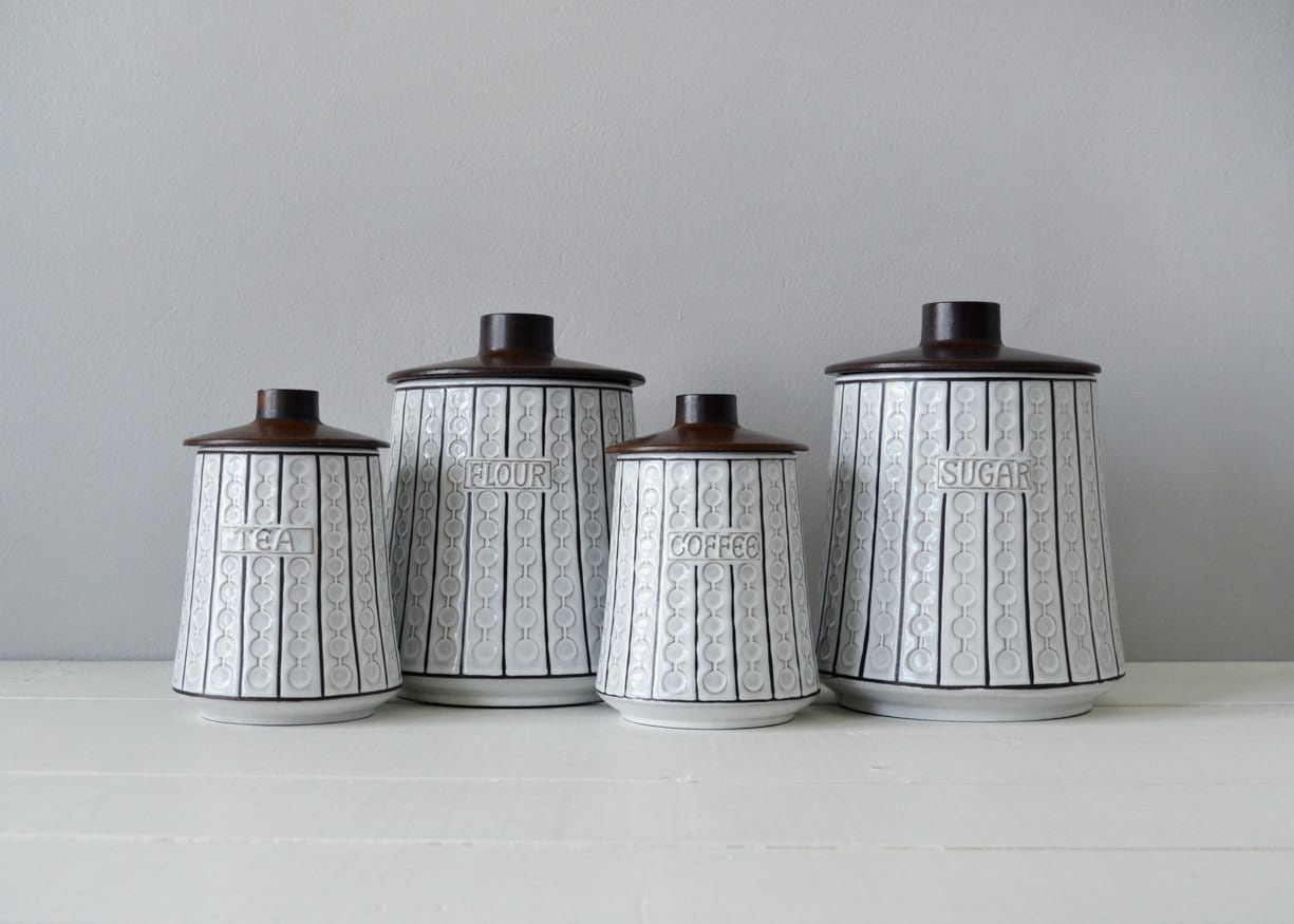 ceramic canisters sets for the kitchen mid century kitchen canisters ceramic canister set mid 1031