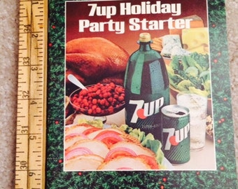 Vintage 1981 Holiday Party Starter 7-UP Recipe COOK BOOK