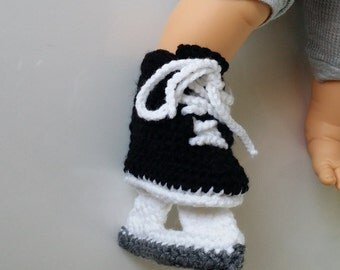 Free crochet pattern baby hockey skates dancox for crochet shark bite shark attack slipper booties sock sharknado free crochet pattern baby dt1010fo