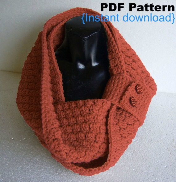 Crochet Stitches Visual Encyclopedia Pdf Free Download : Crochet Pattern Cluster Stitch Cowl PDF INSTANT by Crochetkari
