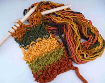 Autumn Leaves Self Striping Super Chunky Handspun Yarn