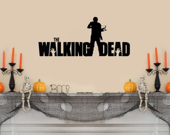 """The Walking Dead (with Daryl and crossbow) Wall Decal- (24"""" X 10"""")"""