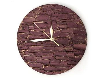 BRONZE WALL CLOCK, unique wall clock, bronze home decor, modern wall clock, minimalism