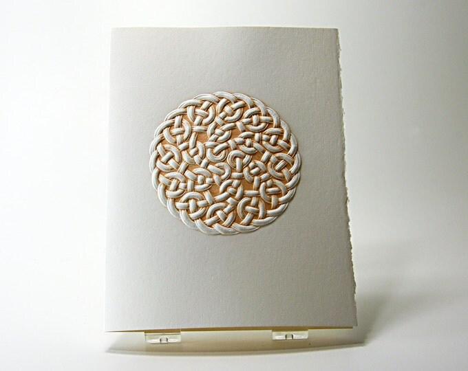 Celtic Rope Knot Card. Letterpress Knot Card. Embossed Celtic card. Single Card. Blank Inside.