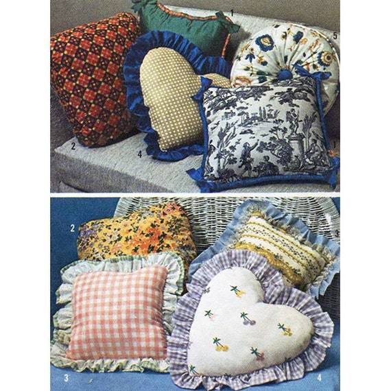 Simplicity 6483 Sewing Pattern Throw Pillows Uncut