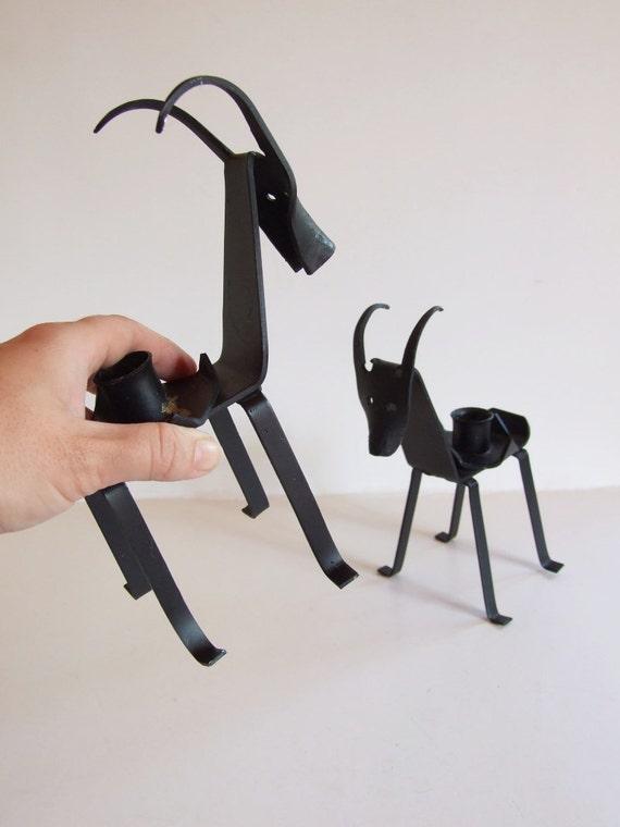 Dan s sueco portavelas hierro cabras portavelas mediadios - Portavelas de hierro ...